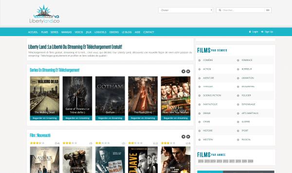 Interface Site téléchargement direct LibertyLand