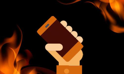 Un chargeur de smartphone peut-il prendre feu ?