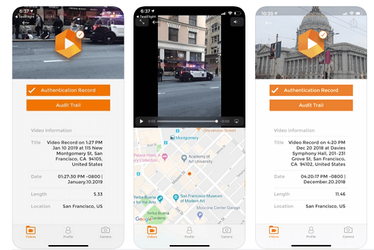 L'application Amber Authenticate